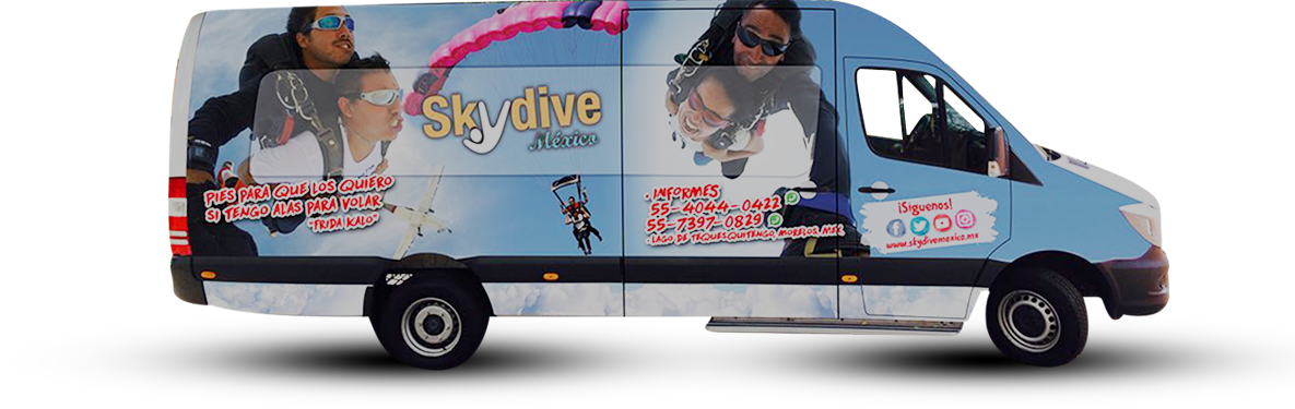 Skydive México te ofrece transporte desde CDMX