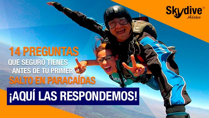 ¿Tienes dudas sobre salto en paracaídas? Aquí sus respuestas