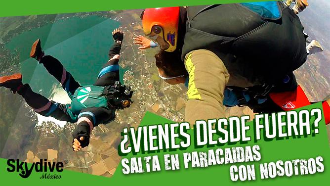 ¿Cómo saltar con Skydive de México (Morelos) si soy foráneo?