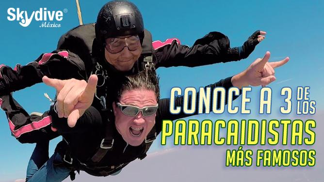 Conoce a 3 de los paracaidistas más famosos