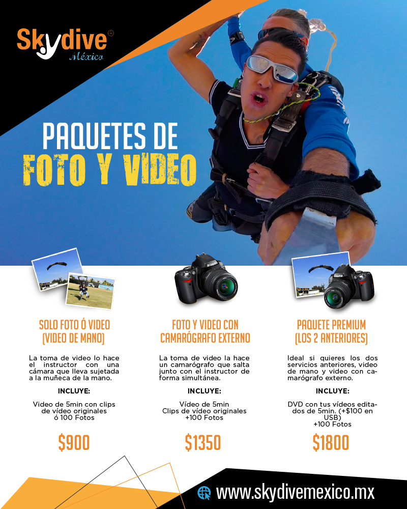 paquetes de foto skydive de mexico tequesquitengo